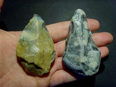 Lower Palaeolithic - Two early acheulean points -  Rare UK C.350,000+ BP