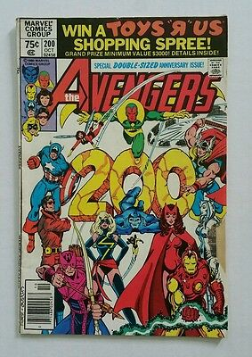 The Avengers #200 (Marvel Comics,1980) Anniversary Issue Ms Marvel leaves