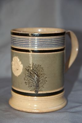 "Antique Mochaware Mug - Trees & ""Empire"" Cartouche - NR"