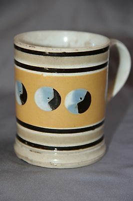 Antique Mochaware Mug with Circles - NR