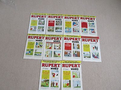 RUPERT BEAR-WEEKLY COMICS x 10-No's 4-13, All are in VGC never read-1982/1983