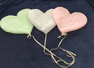 Vtg Plush Heart Balloon Wall Hanging Nursery Baby Judi's Heirloom Collection