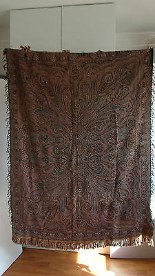 "Vintage/antique Colorful Folklore Dutch Paisley Shawl Or ""bietkleed"" Table Cloth"