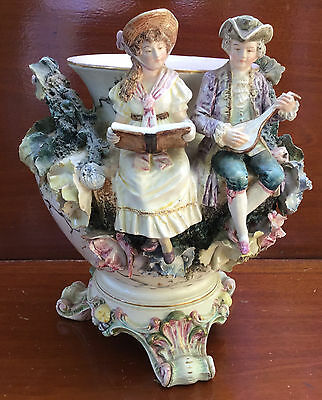 19th Century Antique Large German Figural Jardinière