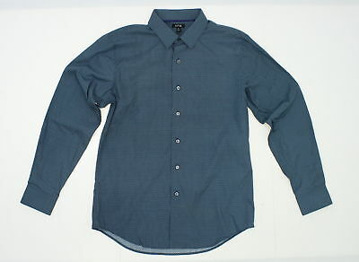 APT 9 NWT Mens Medium Solid Teal Long Sleeve Button Front ...