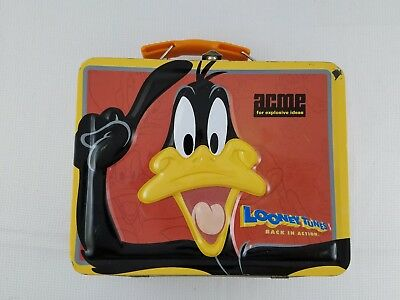 Vintage Collectible Looney Tunes Back In Action DAFFY DUCK Metal Lunch Box Acme