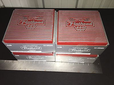 CAO FLATHEAD 660 Carb Wooden Cigar Boxes! LOT OF 4!