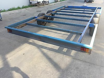 BRAND NEW Trailer CHASSIS Tandem axle 16X8 DIY caravan car enclosed flat bed