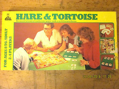 ~RARE HARE & TORTOISE BOARD GAME by JOHN SANDS - 1981 - COMPLETE - VGC~