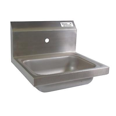 "BK Resources BKHS-W-1410-1 14""W Wall Mount Hand Sink without Faucet"