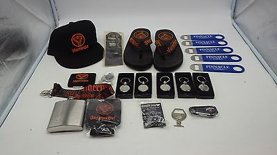 Lot of NEW Jagermeister Jim Beam Fat Tire Guinness Casa Noble Pinnacle Items