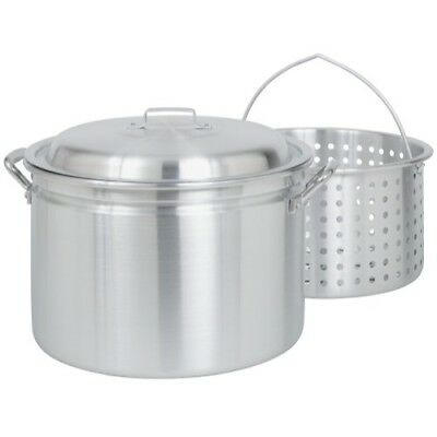 Bayou Classic  24-Quart All Purpose Aluminum Stockpot with Steam and Boil Ba