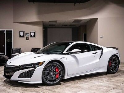 2017 Acura NSX Base Coupe 2-Door 2017 Acura NSX Coupe White Carbon Fiber Carbon Ceramic Brakes MSRP $198k+LOADED!