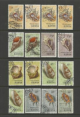 Kenya ~ 1971 Sea Shells Definitives (Used Part Set)