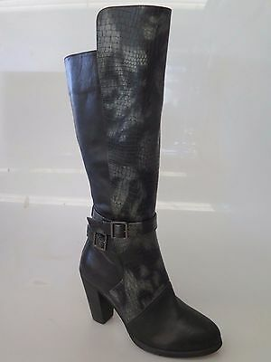 Django & Juliette - new ladies leather long boot size 37 #190 * CLEARANCE *