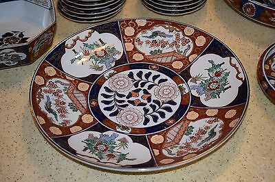 52 piece set dishes, Japanese Gold Imari early 70's ,Hand Painted  China .. NR!