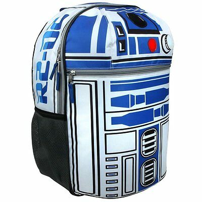 "Disney Star Wars R2D2 16"" Kids School Backpack-Lights and Sounds"