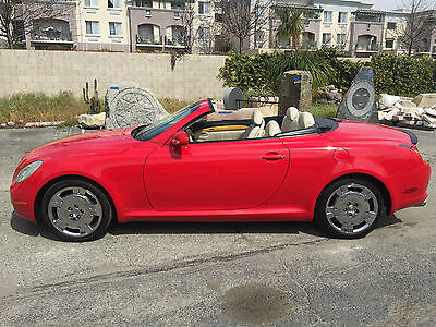 2002 Lexus SC Base Convertible 2-Door UPER RED! SOUTHERN CALIFORNIA DING, DENT + CORROSION FREE RED LADY!  BEAUTIFUL