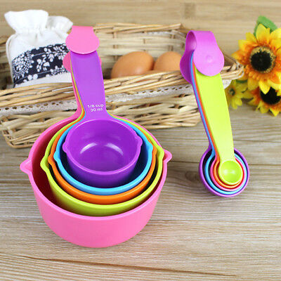Colorful 5PCS Kitchen Tools Measuring Spoons Measuring Cups Baking Utensil Set