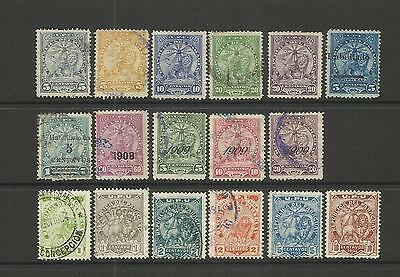 Paraguay ~ 1903-09 Arms Definitives (Small Group) Postally Used
