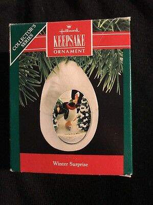 1990 Hallmark Ornament Winter Surprise #2 In Series Penguin