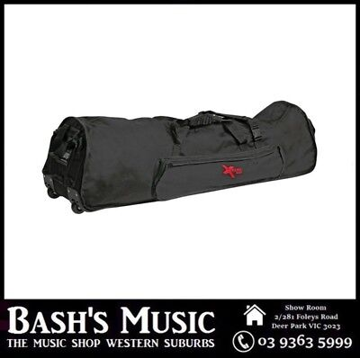 "Xtreme 48"" Extra Heavy Duty Drum Hardware Bag with Wheels Fits Drum Racks"