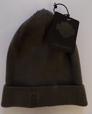 Harley-Davidson Cap Beanie Gray Cotton Acrylic Black Label Winter NEW w/ tag