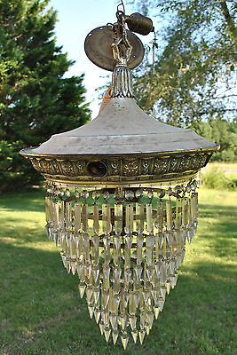 Antique Nickelplate Wedding Cake Chandelier 5 Tier