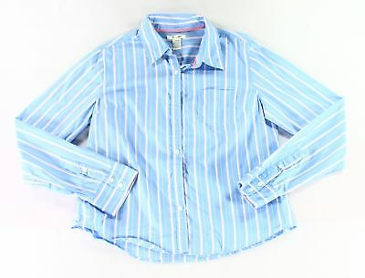 At Last NEW Blue Boys Size Large L Striped Button Down Dress Shirt $32 721