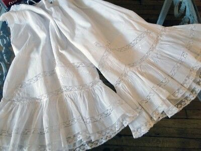 Circa,19Thc. Lovely Ladies Fine Linen Bloomers W/embroidery/valencienne Lace