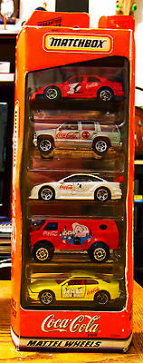 Coca Cola Matchbox Cars 5 pc. Gift Set #35999, in orignial packaging, 1998