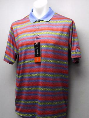 New Mens LARGE CHASE 54 polyester spandex Multi Coloured golf shirt Thornhill