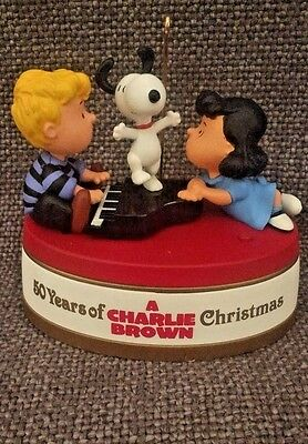 50 Years of A Charlie Brown Christmas Hallmark Ornament 2015 tested no box