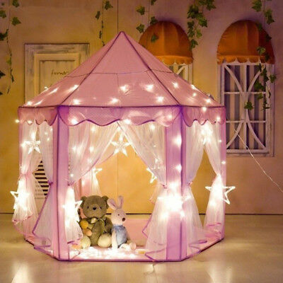 Baby Girl Princess Castle Play Tent Playhouse Children Kids Outdoor Toys Gift