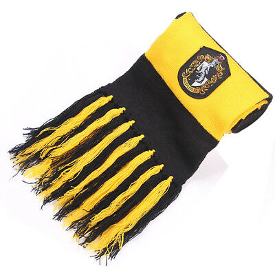 Harry Potter Hufflepuff House Scarf Knit Wool Warm Cosplay Costume Xmas Gift