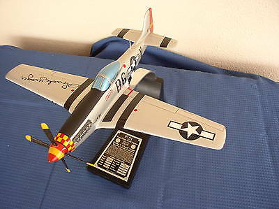 Chuck Yeager Hand-Signed Danbury Mint Model of P- 51 Mustang, World War II