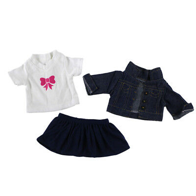 Fancy Dress Jeans Outfit Clothes for 18'' American Girl Our Generation Dolls