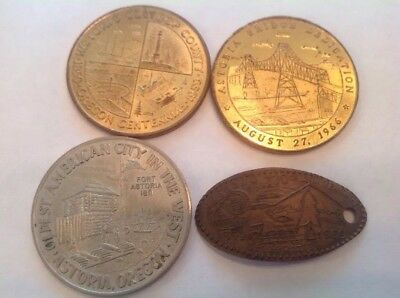 Vintage Astoria Oregon Commemorative Souvenir Coin Lot