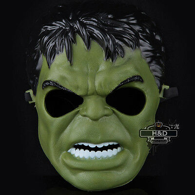 The Avengers Incredible Hulk Mask Cosplay Halloween Party Costume Fancy Dress