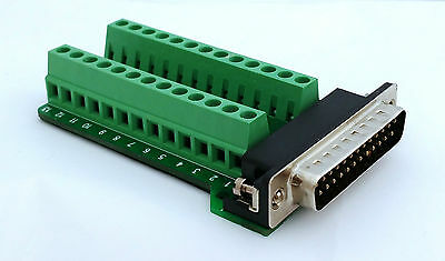 DB25 DSUB 25-pin Male Adapter RS-232 Breakout Board Connector D9: £9.75 FREE p&p