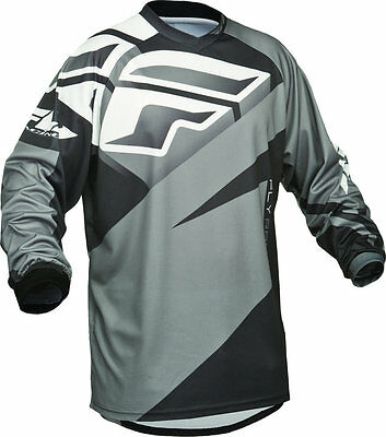 Fly Racing F-16 Motorcross Mx Jersey Black Grey Xl 2Xl Bnwt