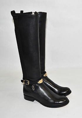 5cb885922407 NEW! MICHAEL KORS  Arley  Tall Black Leather Riding Boot Size 6.5 ...
