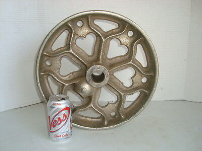 """Elevator Wheel Vintage Antique, Big and Heavy About 14"""" Tall 4"""" W"""