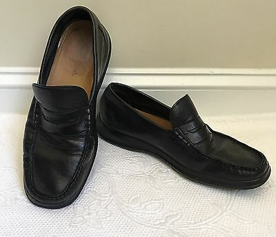 Cole Haan Men's Black Leather Dress Shoes / Loafers w/ Nike Air soles Size 9M