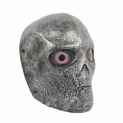 Black Airsoft Paintball Wire Full Protection T800 Terminator Skull Cospaly Mask