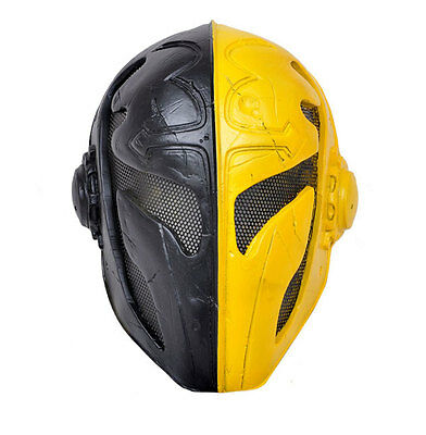 Fiber Resin  Wire Mesh Paintball Airsoft Full Face Protection Templar Mask