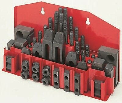 "1/2""BSW Clamp Set (58pc) for 5/8"" or 16mm 'T' Slot to suit Milling Machine"