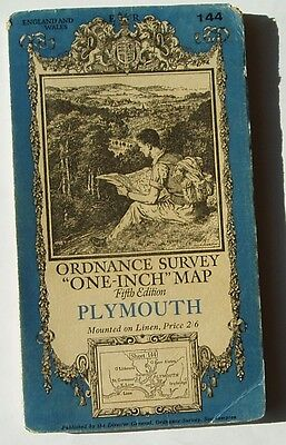 Ordnance Survey Map Of Plymouth.  1936.