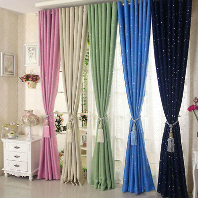 Hot Window Panel Divider Room Star Curtain Decorative Home Room Blackout Drapes