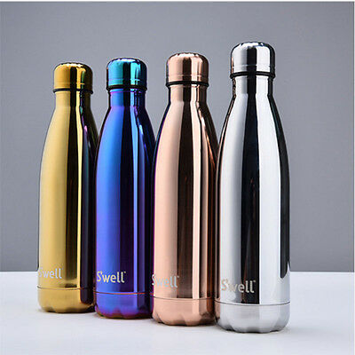 Swell Water Bottle New Stainless Steel Thermal Insulation Gold Sirver 17oz Cold